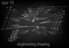 Технический чертеж, инженерство Стоковые Изображения RF