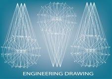Технический чертеж, инженерство Стоковые Фотографии RF