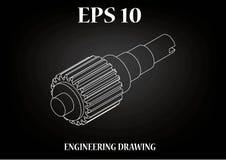 Технический чертеж, инженерство Стоковое Изображение RF
