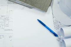 Технический чертеж с свободным белым космосом для текста стоковые фото
