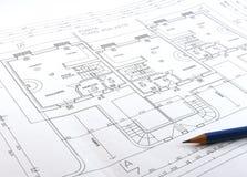 Технический чертеж Стоковое Фото