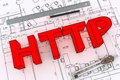 Технический чертеж Стоковое Изображение RF