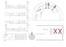 Технический чертеж Стоковое Изображение
