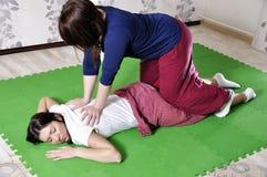 Техническое исполнение тайского массажа стоковое изображение
