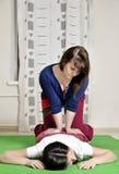 Техническое исполнение тайского массажа стоковое изображение rf