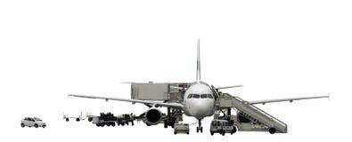 техническое обслуживание самолета Стоковое фото RF
