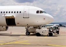 техническое обслуживание самолета Стоковое Изображение