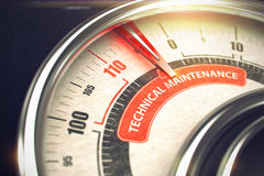 Техническое обслуживание - концепция режима дела 3d Стоковая Фотография