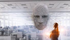 Технологии искусственного интеллекта и будущего Мультимедиа стоковые изображения