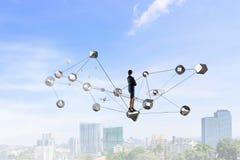 Технологии соединяя мир Мультимедиа Стоковое Изображение RF