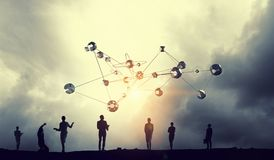 Технологии соединяя мир Мультимедиа Стоковые Фотографии RF