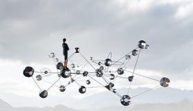 Технологии соединяя мир Мультимедиа Стоковое Фото