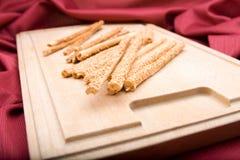 технологический комплект хлеба вставляет деревянное Стоковые Фото