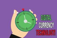 Технология валюты цифров текста почерка Концепция знача валюту доступную в цифровой или электронной форме Hu иллюстрация штока