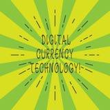 Технология валюты цифров текста почерка Концепция знача валюту доступную в луче цифровой или электронной формы тонком бесплатная иллюстрация