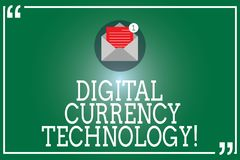 Технология валюты цифров текста почерка Концепция знача валюту доступную в цифровой или электронной форме раскрывает иллюстрация штока
