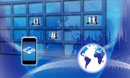 технология гловальной информации обеспеченная Стоковые Фотографии RF