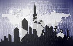технология города цифровая Стоковые Фото