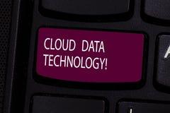 Технология данным по облака текста почерка Спасение смысла концепции и данные по и программы доступа над клавишей на клавиатуре и стоковые изображения