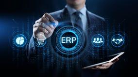 Технология дела программного обеспечения системы планирования ресурсов предприятия ERP стоковая фотография rf
