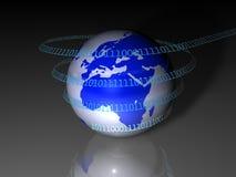 технология европы принципиальной схемы гловальная Стоковое Изображение RF