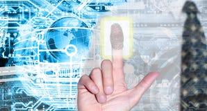 Технология интернета кибер Стоковое Изображение