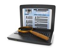 технология интернета. поиск работы бесплатная иллюстрация