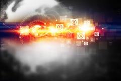 Технология интернета цифров иллюстрация штока