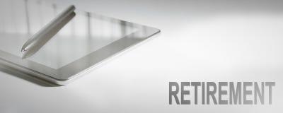 Технология концепции дела ВЫХОДА НА ПЕНСИЮ цифровая Стоковое Изображение RF