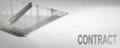 Технология концепции дела КОНТРАКТА цифровая стоковая фотография rf