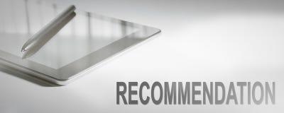 Технология концепции дела РЕКОМЕНДАЦИИ цифровая График Conc стоковая фотография rf