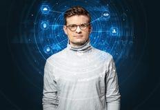 Технология лицевого опознавания биометрическая Стоковые Изображения RF