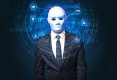 Технология лицевого опознавания биометрическая Стоковое Фото