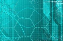 Технология медицинской науки футуристическая как искусство Стоковое Изображение RF