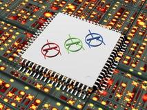 технология микросхемы 3d Стоковое фото RF