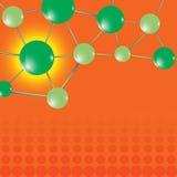 технология молекулы предпосылки Стоковые Изображения