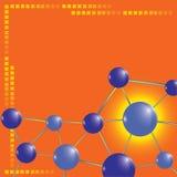 технология молекулы предпосылки Стоковая Фотография