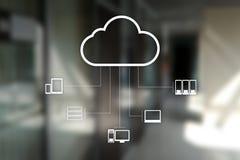 Технология облака Хранение данных Концепция сети и интернет-обслуживания стоковое фото