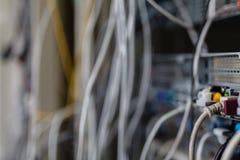 Технология переключателя ядра в месте комнаты сети Стоковое Изображение RF