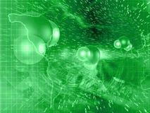 технология планеты телефона земли бинарного Кода предпосылки Стоковые Фото