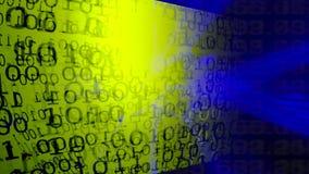 технология планеты телефона земли бинарного Кода предпосылки бинарный Код Абстрактные большие данные акции видеоматериалы