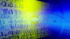 технология планеты телефона земли бинарного Кода предпосылки бинарный Код Абстрактные большие данные иллюстрация штока