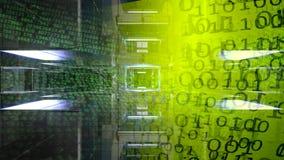 технология планеты телефона земли бинарного Кода предпосылки бинарный Код Абстрактные большие данные иллюстрация вектора
