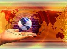 технология принципиальной схемы компьютера гловальная стоковая фотография rf