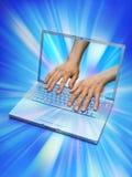 технология программника компьтер-книжки компьютера Стоковая Фотография