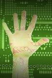 технология руки Стоковая Фотография