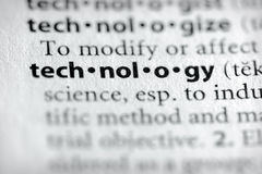 технология серии науки словаря Стоковое Фото
