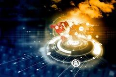 Технология сети цифров иллюстрация вектора