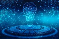 Технология шарика будущая, предпосылка нововведения, творческая концепция идеи иллюстрация штока
