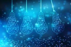 Технология шарика будущая, предпосылка нововведения, творческая концепция идеи иллюстрация вектора
